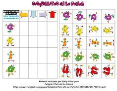 CoSqUiLLiTaS eN La PaNzA BLoGs: JUEGO DE ORIENTACIÓN ESPACIAL ( LAS VOCALES ) Logic Games, Logic Puzzles, Book Activities, Preschool Activities, Coloring Worksheets For Kindergarten, English Book, Montessori Toddler, Learning Through Play, Kids Toys