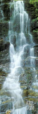 Water Falling from Rocks, Aberfeldy, Perthshire, Scotland Photographic Print by Panoramic Images at Art.com