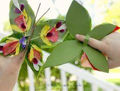 Nature Butterfly Finger Puppet #Craft