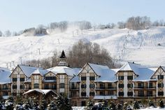 If you're planning a trip to Boyne, MI, stay at the top rated Mountain Grand Lodge and check out the Shopping Village next door, where you'll find a Del Sol store.
