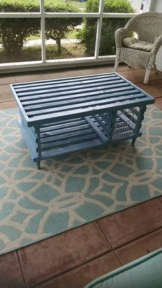HalfRound Lobster Trap with supports for coffee table Nautical