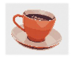 Instant download. Cross stitch pattern. Cup of coffee. от Domcraft, $2.00