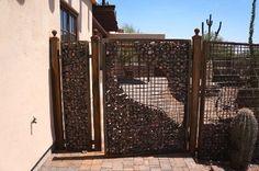 Gabion fence by Goodman Fabrications
