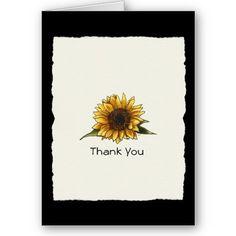 Sunflower Wedding Thank You Cards