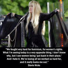 Stevie Nicks on women's rights