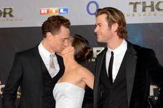 Tom Hiddleston, Chris Hemsworth and Natalie Portman attend THOR: The Dark Kingdom Germany premiere at CineStar on October 27, 2013 in Berlin, Germany [HQ]