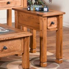 "Check out the Sunny Designs 3143RO-CS Sedona 26"" Chair Side Table in Rustic Oak priced at $300.00 at Homeclick.com."