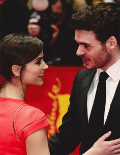 Jenna Coleman and Richard Madden at the Berlin Cinderella Premiere