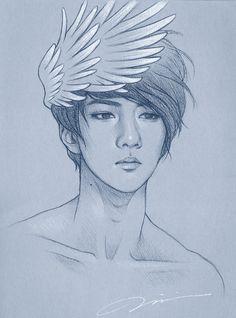 EXO Sehun Fanart. I wish I can strangle all those amazing artists.. I want ya skillsssssssss