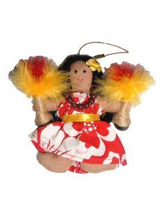 Fabric Christmas Ornaments, Christmas Trees, Christmas Crafts, Hawaiian Christmas Tree, Sun Holidays, Christmas Island, Hula Girl, Palm Trees, Needlework