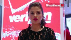 Selena Gomez interviewed at Verizon Wireless unveils InnovativeDestination.. BreakFree Infinity is TheDestinyOfUS