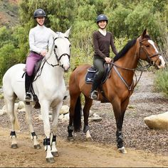 """""""Today was a perfect morning. I had so much fun wandering down the trail""""- ZintaPolo. ZintaPolo is wearing Mountain Horse Ice High Rider III Tall Boots. The Styled Equestrian is wearing Mountain Horse Sovereign Field Boots. #ItsAMountainHorseKindOfDay #mountainhorse"""