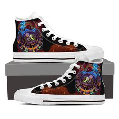 Space Black High Top Canvas Shoes