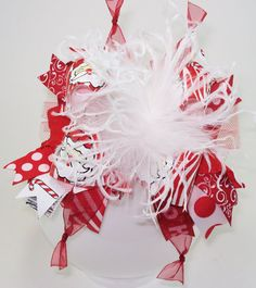 Bling it On Santa Over the Top Hair Bow with by sanchezc30 on Etsy, $19.99