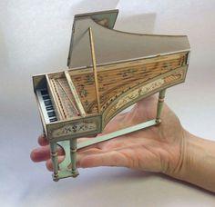 Miniature Harpsichord by Artesanos Felipe Royo
