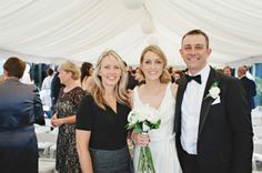 Celebrant Michelle Shannon with Emile and Andrew who were married at the Byron Bay Surf Club. Photo by Bushturkey Studio The Byron, Byron Bay Weddings, Bridesmaid Dresses, Wedding Dresses, Beautiful Couple, Wedding Ceremony, Surfing, Club, Studio