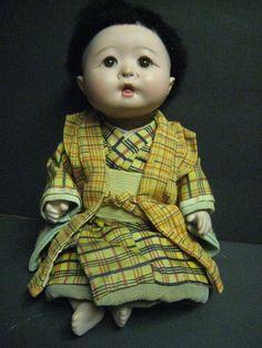 Antique Vintage Japanese Gofun Doll Ichimatsu ? Geisha ? Boy