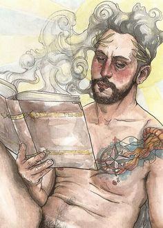As ilustrações homoeróticas de Felipe Camargo – BLCKDMNDS