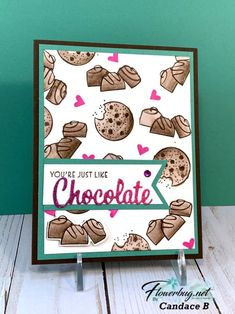 Chocolate Card, Chocolate Hearts, Love Chocolate, Paper Crafts, Diy Crafts, Pillow Box, Love You More Than, Cool Cards, Stampin Up Cards