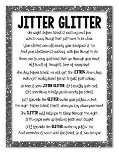 It's just a picture of Delicate Jitter Glitter Poem Printable