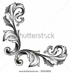 Similar Images, Stock Photos & Vectors of 34 design elements - 126974498 Design Elements, Pattern Design, Baroque Frame, Baroque Art, Filigree Tattoo, Damask Tattoo, Baroque Tattoo, Floral Retro, Drawing Tips