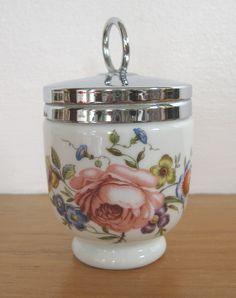 """Royal Worcester vintage porcelain egg coddler - standard size, """"Bournemouth"""" pattern (SOLD Jan. 2013) - www.vanishederas.com"""