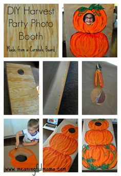 diy photo booth harvest party ideas