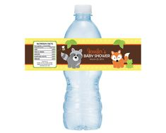 Woodland Forest Friends Baby Shower or Birthday Water Bottle Drink Labels -- Set of 5 Labels on Etsy, $3.25
