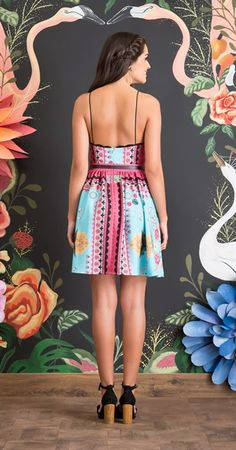 Vestido Pano Flamingos II