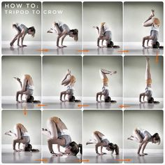 "266 Likes, 11 Comments - ▫          Lorraine Bradley  (@catbradleyyoga) on Instagram: ""How to: Tripod to Crow. . I just can't let this challenge go  . I remember learning this…"""