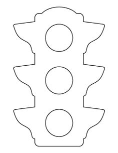 Preschool Blank Wheel The Traffic Light Coloring Page Free The