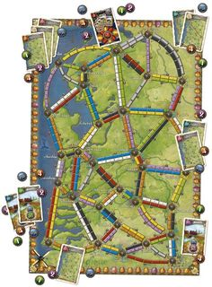 Ticket to Ride Map Collection: Volume 4 - Nederland, Days of Wonder, 2013 — components on display (image provided by the publisher) Board Game Themes, Fun Board Games, Games To Play, The Fonz, India Map, Home Fireplace, Fireplaces, Ticket To Ride, Board Games