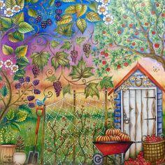 410 отметок «Нравится», 15 комментариев — Rosana Penze (@rpenze) в Instagram: «Jardim Secreto - A Horta - Johanna Basford - edição francesa @vistueisabela #secretgarden…»