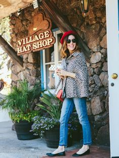 If you're looking for an afternoon out in San Diego, the Seaport Village shops are a great spot to visit. Follow Conni of Art in the Find as she hunts down the best shops and finds at Seaport Village. shops at seaport village | san diego | seaport village shops | what to do in san diego | san diego attractions | shops san diego | shopping san diego | red beret outfit | outfits | leopard print cape coat | womens fashion | animal print coat | cape coat outfit | winter style |