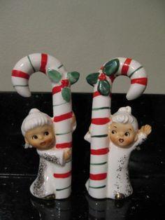 Vintage Lefton/Napco Christmas Angel Girl Candy Cane Figurine Japan
