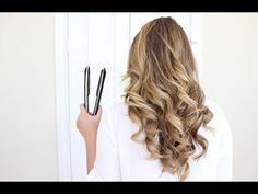 How To Curl Your Hair With A Flat Iron | Long Lasting - YouTube