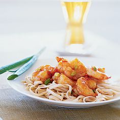 stir-fried shrimp with spicy orange sauce - Cooking Light
