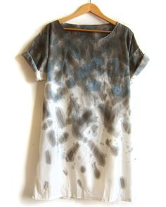 "Watercolor Tunic - ""Splash Dyed"" Hand PAINTED"