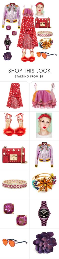 """Bright Pattern Play💖"" by p0llyinurpocket ❤ liked on Polyvore featuring Caroline Constas, Emilio Pucci, Charlotte Olympia, Lulu in the Sky, Gucci, Effy Jewelry, Elizabeth Cole, Kate Spade, Michael Kors and Christian Dior"