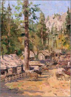 High Country Camp. Painted by Thomas Kinkade. http://www.thomaskinkade.com/magi/servlet/com.asucon.ebiz.catalog.web.tk.CatalogServlet?catalogAction=Product&productId=69354&menuNdx=0
