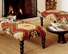 ottoman covered with kilim diy - Google Search