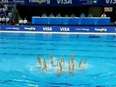 Synchronized Swimming - London 2012 Prepares Series - USA Free Routine including an Ohio State alumnus, Caitlin Stewart  Haha I didn't know that existed in the olympics
