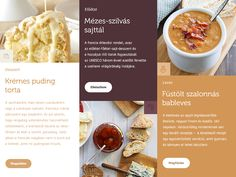 layout for recipe site designed by Daniel Deme. Recipe Sites, Recipes, Site Design, Layout, Page Layout, Recipies, Design Websites, Ripped Recipes, Website Designs