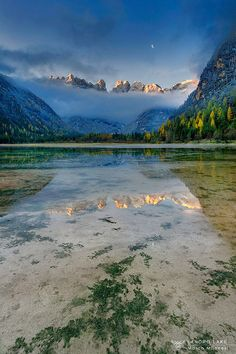 Landro lake, Trentino , Trentino alto Adige , Italy
