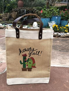 Digital Print for a very dear customer. Beautiful Print with Texas and Indian Touch. Jute Tote Bags, Burlap Tote, Reusable Tote Bags, Promotional Bags, Painted Bags, Wedding Gift Bags, Personalized Tote Bags, Welcome Bags, Printed Tote Bags