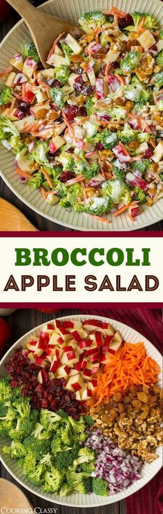 Broccoli Apple Salad Serves Diet for Instant Weight Loss - 20 pounds in Less than 20days. Meal plan for weight loss weight watchers  http://healthfactsreport.com/nutrisystem-coupons/ #lose10poundseasy