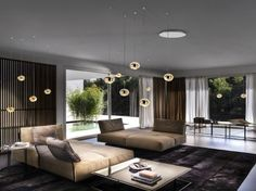 This elegant seating area was completed by Linea Studio. #luxeFL
