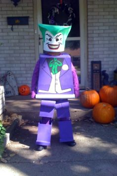 Lego Joker Minifig costume...DOING THIS for the boy this year