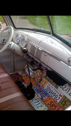 VW Bus floor of plates