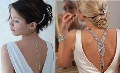 Mostrar la espalda está de moda y adornarla con accesorios es una tendencia muy femenina, delicada y elegante.
